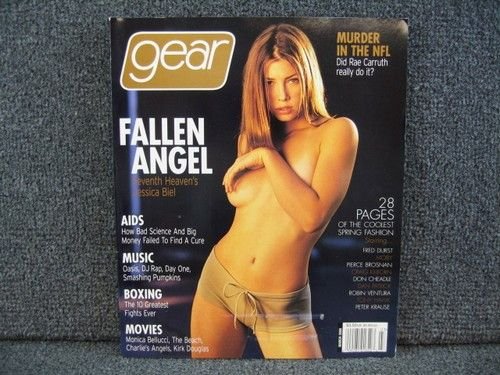 GEAR Magazine March 2000 Issue JESSICA BIEL