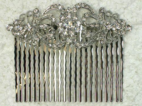 CRYSTAL HAIR COMB 4 BRIDAL BRIDESMAID WEDDING PROM PARTY L56