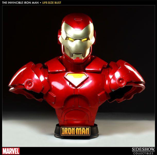 Iron Man   Invincible Iron Man Life Size Bust Comic Ver.