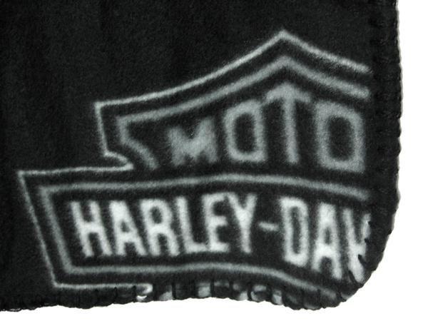 Pink / Black Harley Davidson Bar & Shield Throw Blanket
