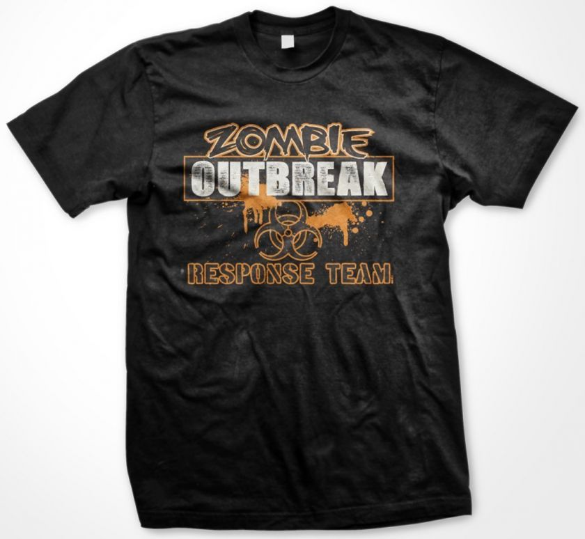 Zombie Outbreak Response Team Funny Mens T Shirt