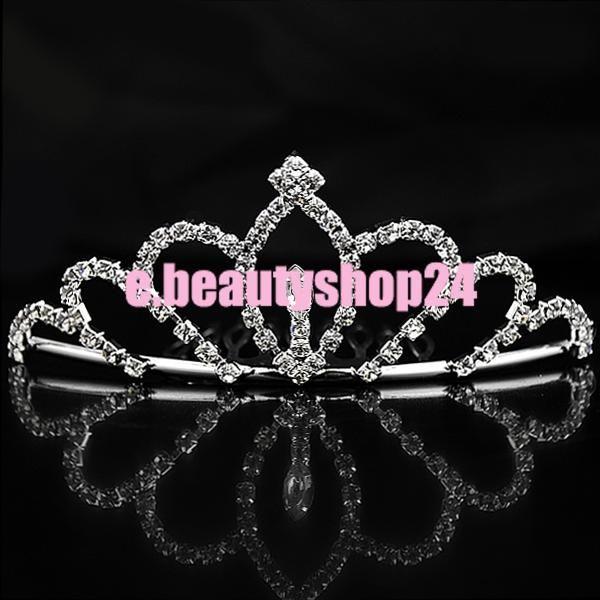 Fashion Bridal Rhinestone Crown Hair Comb Pin Tiara 4.5 x 11cm