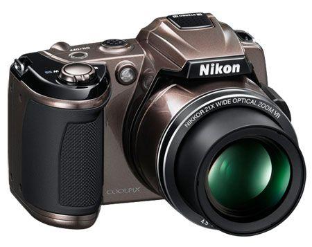 NEW NIKON COOLPIX L120 DIGITAL CAMERA W/CASE BRONZE 21x optical Zoom