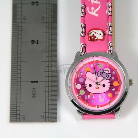 Colorful Hello kitty Quartz Wrist Watch Children Party Gift watches