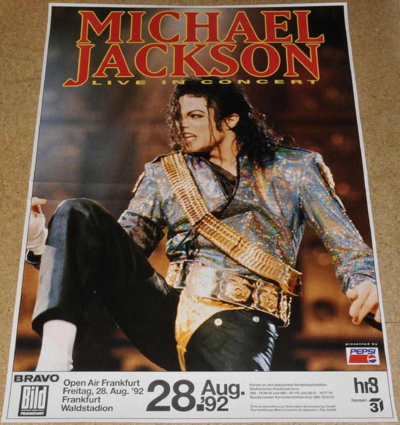 Michael Jackson mega rare Tour Concert poster Near Mint