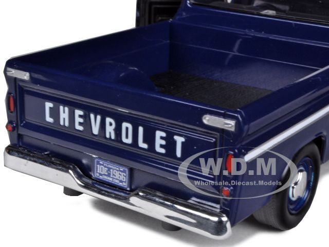 1966 CHEVROLET C10 FLEETSIDE PICKUP TRUCK BLUE 1/24 BY MOTORMAX 73355