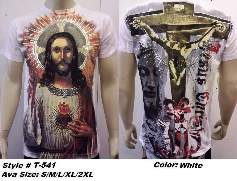 shirts, GRAPHIC religious ,of Jesus christ. S XXL BLK